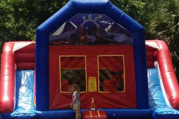 not just catering, bounce house
